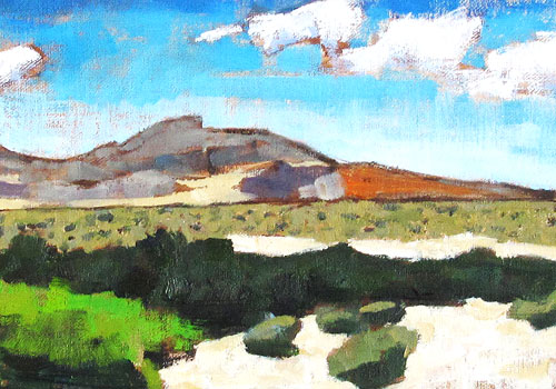 Red Rocks Landscape Painting, Las Vegas, Nevada