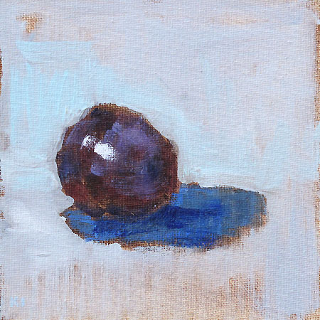 Plum Still Life Painting