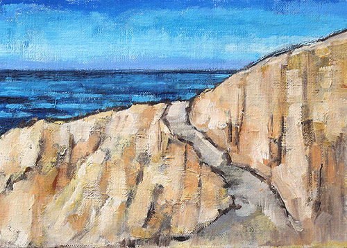 La Jolla Cliffs, San Diego Painting