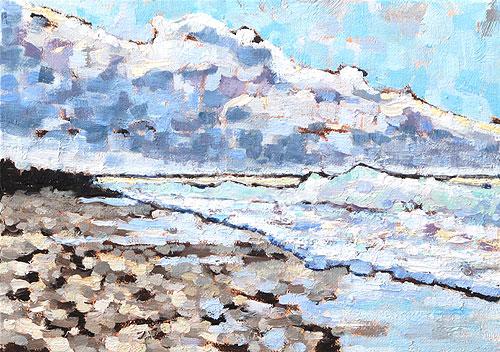 Coronado Beach Painting, San Diego, California Landscape
