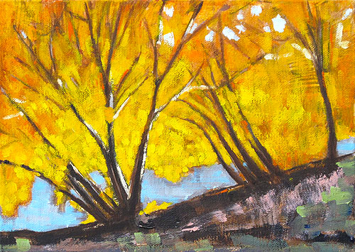Autumn Leaves Landscape Painting