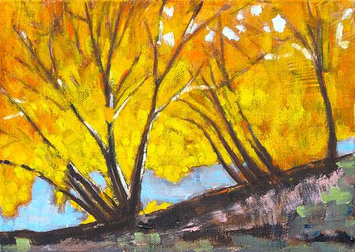 Autumn Leaves Landscape Painting