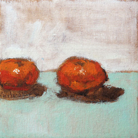 Clementine Orange Still Life Painting