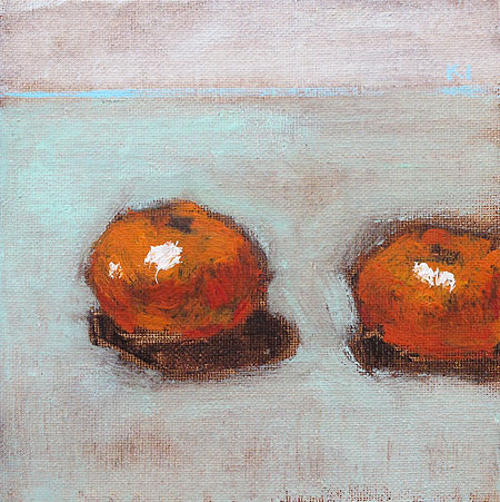 Orange Still Life Painting