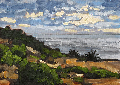 Sunset Cliffs San Diego Landscape Art Painting