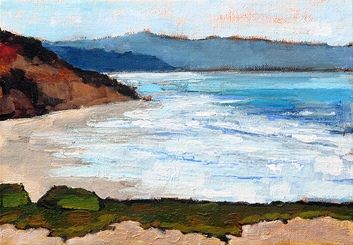 Del Mar Beach Painting, San Diego, California Landscape