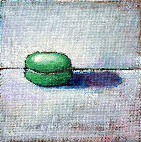French Macaron Painting