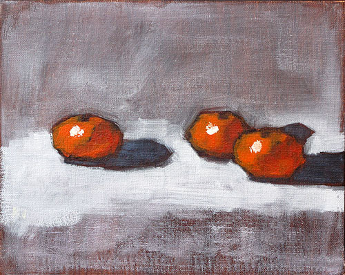 Clementine Oranges Still Life Painting