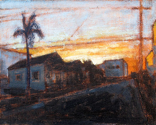Sunrise in San Diego Painting