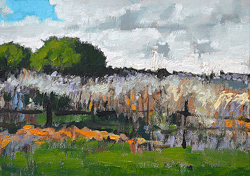 Virginia Farm Landscape Painting Blacksburg