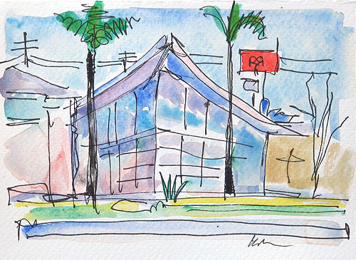 Hillcrest Watercolor Painting