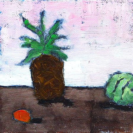 Pineapple Orange and Watermelon Still Life
