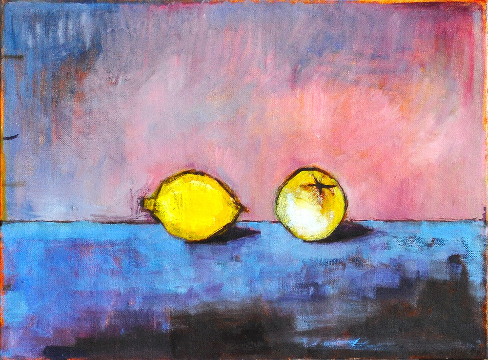 Guava and Lemon Still Life Painting