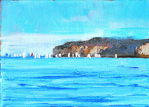Dana Point Sailboats Painting