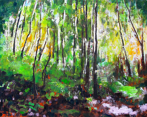 Blacksburg Virginia Woods Painting