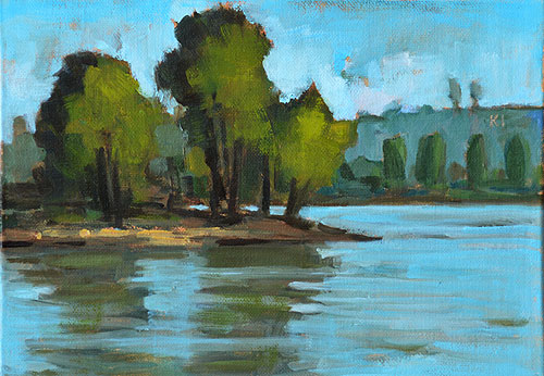 Lake Murray Painting San Diego Landscape