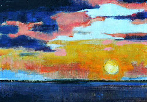 California Ocean Sunset Painting