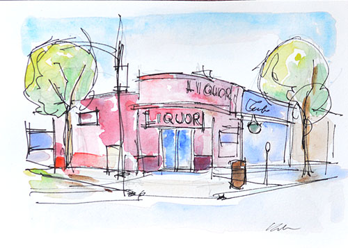 Mission Hills Painting San Diego Watercolor