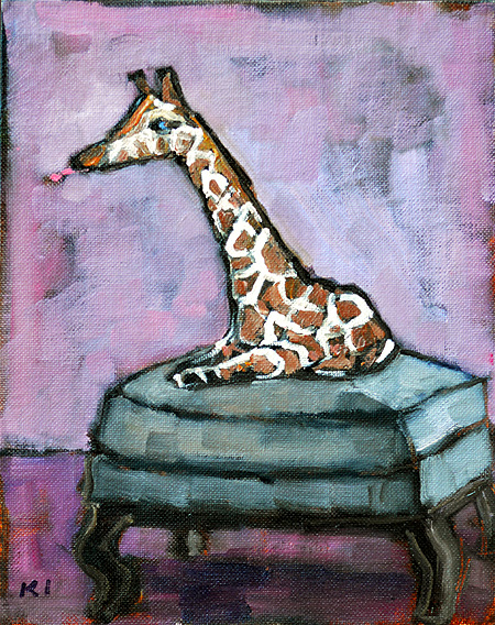 Miniature Giraffe Painting
