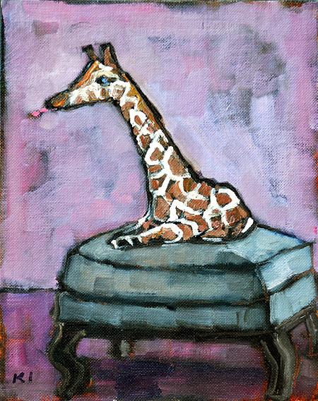 Miniature Giraffe Painting