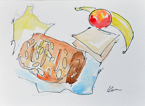 Breakfast Croissant Whole Foods Still Life Painting