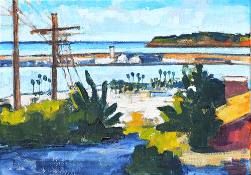San Diego Bay Painting
