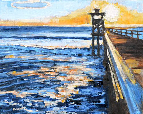 Crystal Pier Painting Pacific Beach San Diego