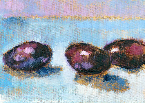 Eggplant Still Life Oil Painting