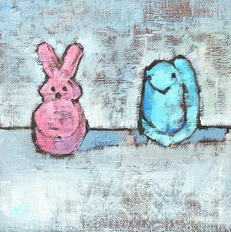 Easter Peeps Painting