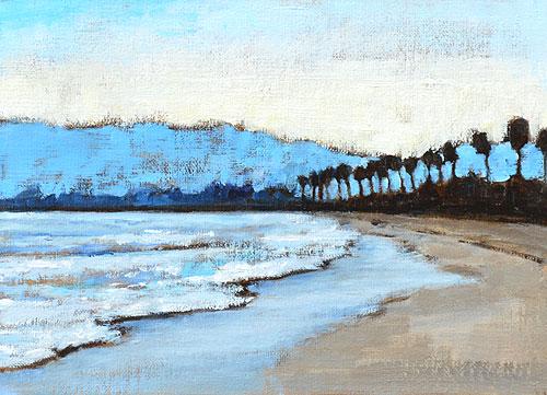 Santa Barbara Sunset Painting