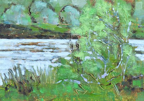 San Diego River Landscape Painting