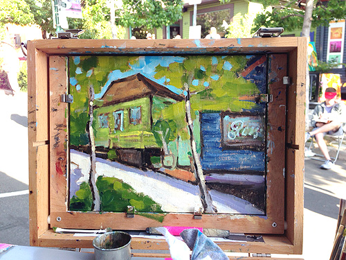 Little Italy Painting San Diego Plein Air