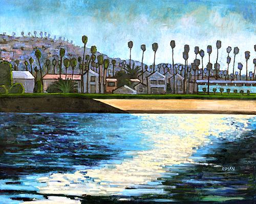 Ocean Beach Landscape Painting San Diego