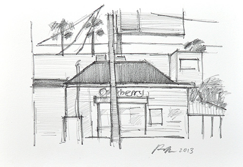 San Diego Urban Sketchers Pencil Drawing Hillcrest