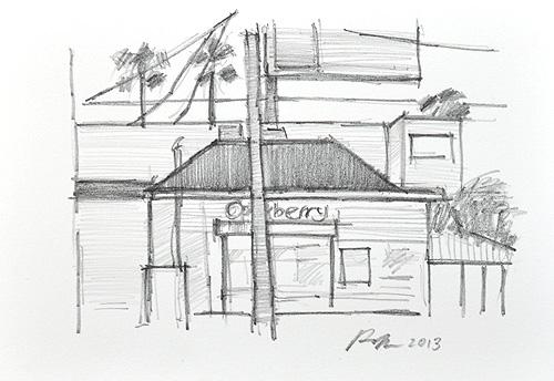 San Diego Urban Sketchers Pencil Drawing Hillcrest