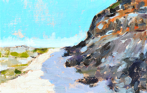 Torrey Pines Del Mar California Painting