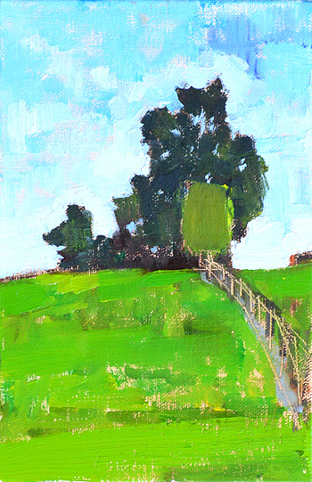 Summer Virginia Farm Painting