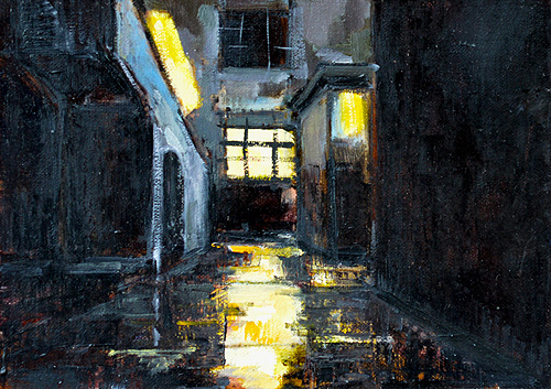 San Diego Night Painting Nocturne