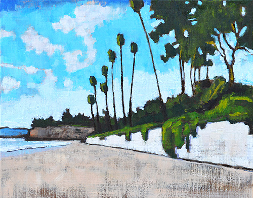 Butterfly Beach Painting Santa Barbara California