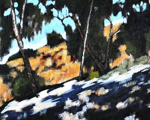 Eucalyptus Grove in Balboa Park, San Diego Painting