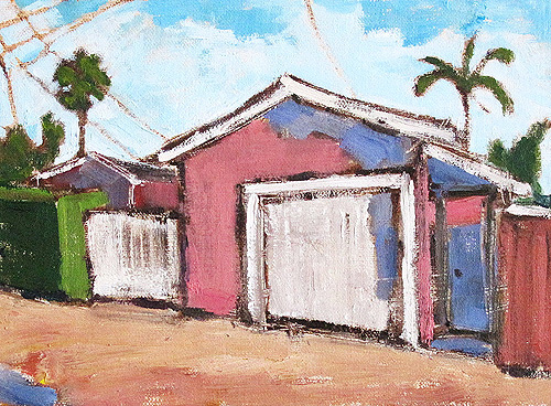 Pink House in Hillcrest, San Diego Painting