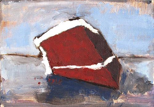 Red Velvet Cake Painting
