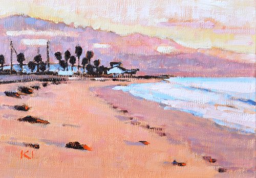 Santa Barbara Beach Painting Sunrise