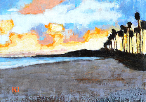 Santa Barbara Beach Painting