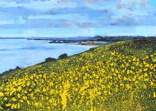 Laguna Beach Painting California Wildflowers