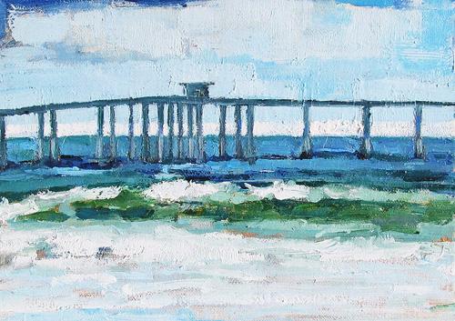 Ocean Beach Pier San Diego Landscape Painting