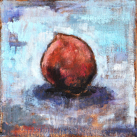 White Peach Still Life Painting