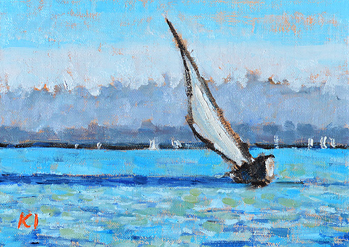 San Diego Sailboat Painting