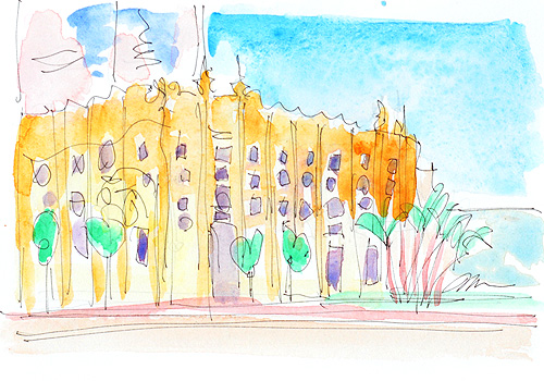 SDSU Art Museum San Diego Watercolor Painting