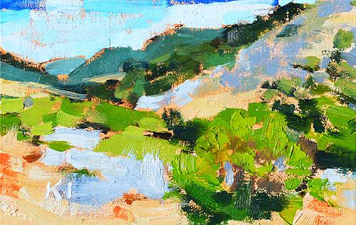 Laguna Canyon Painting Landscape